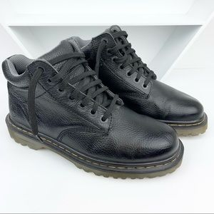 Dr. Martens Pebbled Leather Moto Ankle Boots Doc